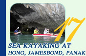 Sea Kayaking at Hong Jamesbond and Panak Island