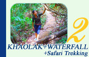 Khaolak and Waterfall and Safari Trekking
